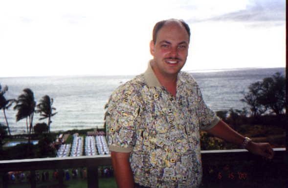Doug on Porch in Hawaii
